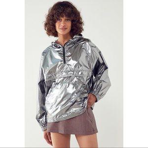 UO Iridescent Packable Windbreaker Jacket